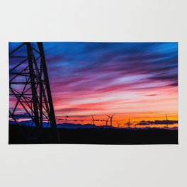 Sunset & Windmills Rug