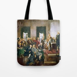 The Signing of the Constitution of the United States - Howard Chandler Christy Tote Bag