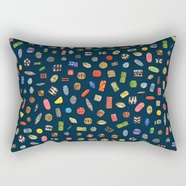 African Beads Rectangular Pillow