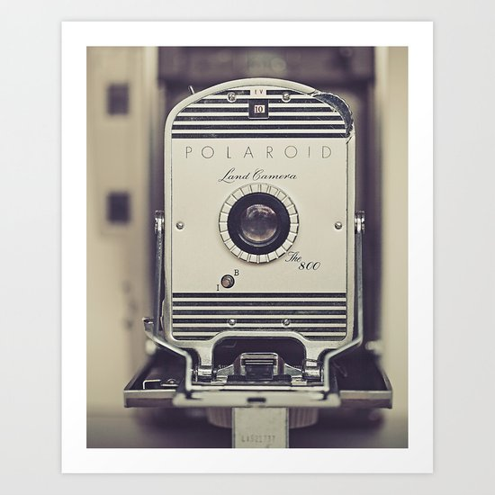 Vintage Polaroid Land Camera The 800 Art Print