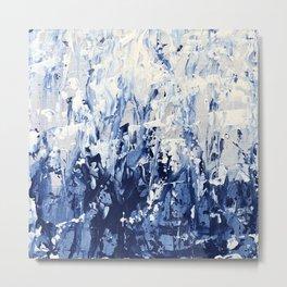 Blue Iris Rising Metal Print