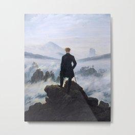Caspar David Friedrich - Wanderer above the sea of fog Metal Print
