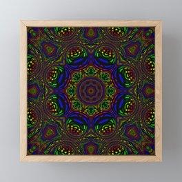 Rainbow Kaleidoscope 3 Framed Mini Art Print