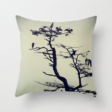 Birds on a Tree Throw Pillow