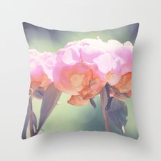 Pink Peony 8 Throw Pillow