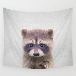 Raccoon - Colorful Wall Tapestry