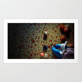 The knitter. Art Print