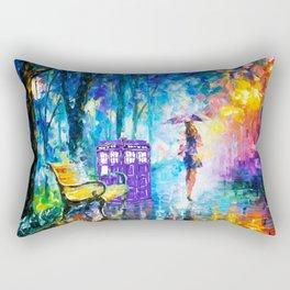 Little Tardis With The Girl Rectangular Pillow