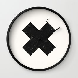 Ski X Cross Sign Wall Clock
