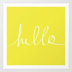 Hello x Sunshine Art Print