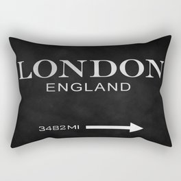 black watercolor London england Rectangular Pillow