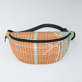 Buenos Aires city map orange Fanny Pack