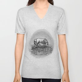 The Transformation: Elise the Unicorn Unisex V-Neck