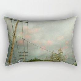 Telephone Lines Rectangular Pillow