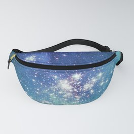 Turquoise Star Galaxy Fanny Pack