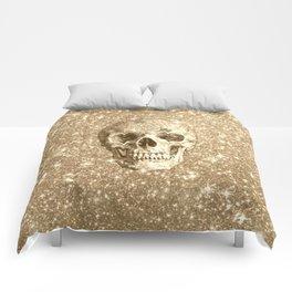 Modern sparkling Skull C Comforters