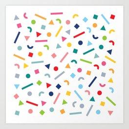 geometric funfetti Art Print
