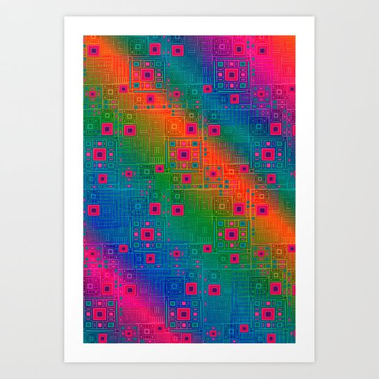 rainbow substrate Art Print