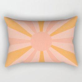 pink and orange sunshine Rectangular Pillow