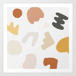 Abstract Shape Series - Autumn Color Study Art Print