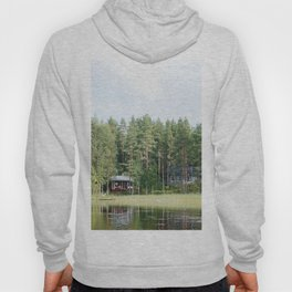 Cabin by the lake in Finland Hoody