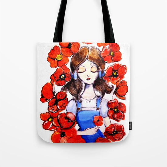 Poppies will put Her to Sleep Tote Bag