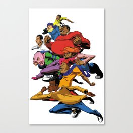 Fat Albert and the gang Canvas Print