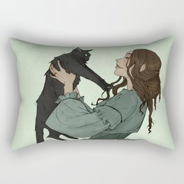 The Black Cat Rectangular Pillow