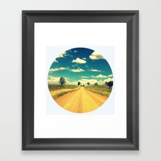 Dirty Back Road Framed Art Print