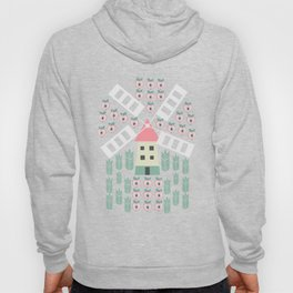 Windmill, apples and grains Hoody