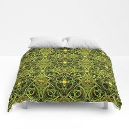 Green Streaks, Golden Orbs 2 Comforters
