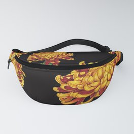 Floral Theme- Chrysanthemum Watercolor Painting Fanny Pack