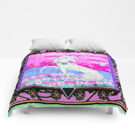 Decorative Fantasy White Unicorn Pink Art Comforters