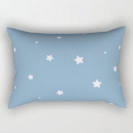 Baby blue stars Rectangular Pillow