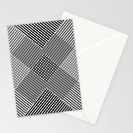Minimal Abstract Triangles Geometry Black White Stationery Cards
