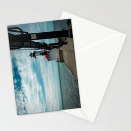 Michigan City East Pierhead Lighthouse and Catwalk Lake Michigan Light Station Stationery Cards