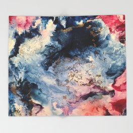 Rage - Alcohol Ink Painting Throw Blanket