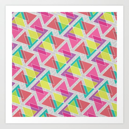 Let's Celebrate The Triangle Art Print