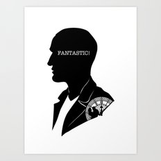 9th Doctor - Quote Silhouette Art Print