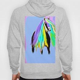 Friesian Fun Fashion Horse Oil Painting  Hoody