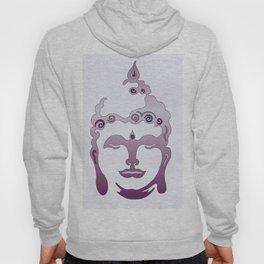 Buddha Head violet - grey Hoody