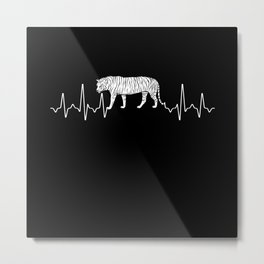 Tiger Heartbeat Metal Print