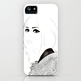 Watercolour Fashion Illustration Titled Wild Child iPhone Case