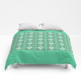 Kat Scratch Starburst Pattern • Mint & Taupe Comforters