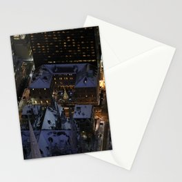 Hidden Christmas Tree in Manhattan at Night Stationery Cards