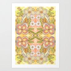 Ethnic Floral Art Print