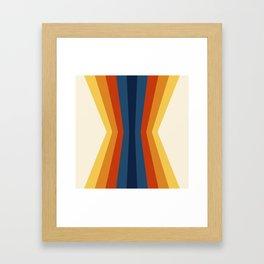 Bright 70's Retro Stripes Reflection Framed Art Print