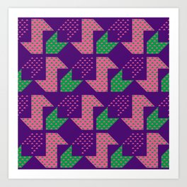 Clover&Nessie_Lavender&Mauve Art Print