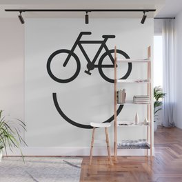 Bike face, bicycle smiley Wall Mural
