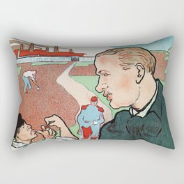 Mévisto in the country French theatre ad Rectangular Pillow